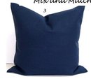 Online Designer Living Room Navy Pillow