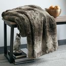 Online Designer Living Room Ombre Faux Fur Throw
