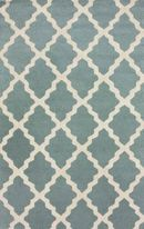Online Designer Living Room Homespun Moroccan Trellis Spa Blue Rug