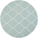 Online Designer Combined Living/Dining Dhurries Light Blue/Ivory Area Rug