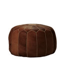 Online Designer Living Room Moroccan Leather Pouf