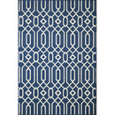 Online Designer Living Room Baja Navy Indoor/Outdoor Area Rug by Momeni