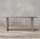 Online Designer Living Room RECLAIMED RUSSIAN OAK PLANK CONSOLE