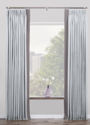 Online Designer Living Room Tailored Pleat Drapes
