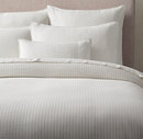 Online Designer Bedroom SOFT COTTON PINSTRIPE DUVET COVER (white/dune or white/black)