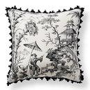 Online Designer Bedroom Scalamandre Pillement Toile Outdoor Pillow(