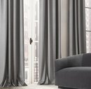 Online Designer Living Room HEATHERED WOOL DRAPERY