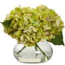 Online Designer Combined Living/Dining Blooming Hydrangea in Vase