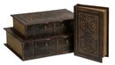 Online Designer Combined Living/Dining Old World Book Box Collection Set of 3
