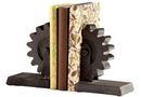 Online Designer Combined Living/Dining Raw Steel Gear Bookend