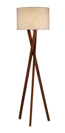 Online Designer Combined Living/Dining Brooklyn Floor Lamp, Walnut