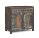 Online Designer Combined Living/Dining Reclaimed Wood 2-Door 2 Drawer Sideboard Cabinet