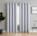 Online Designer Bedroom Kuhlmann Lattice Geometric Room Darkening Thermal Grommet Curtain Panels