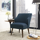Online Designer Bedroom Mid-century Upholstered Fabric Armchair