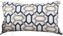 Online Designer Living Room Stitched Design Cotton Lumbar Pillow/navy blue