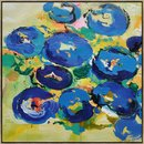 Online Designer Combined Living/Dining Palette Knife Abstract Flowers #L14A