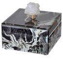 Online Designer Combined Living/Dining Marbled Jewelry Box, Black
