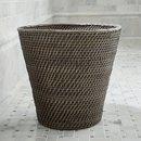 Online Designer Bathroom Sedona Grey Tapered Waste Basket/Trash Can