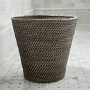 Online Designer Bathroom Sedona Grey Tapered Waste Basket/Trash Can