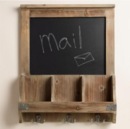 Online Designer Bathroom  Elliot Chalkboard Cubby and Hook Wall Storage