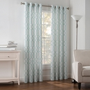 Online Designer Hallway/Entry Newport Wave 63-Inch Grommet Top Window Curtain Panel in Pool Blue