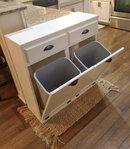 Online Designer Dining Room Tilt out trash bin, double tilt out bin, recycle bin