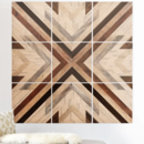 Online Designer Living Room 'Geo Wood 1' Graphic Art Print Multi-Piece Image on Wood