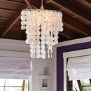 Online Designer Bedroom Oversize Capiz Chandelier, White