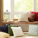 Online Designer Living Room Alda Pintucked Pillow Cover