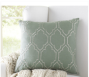 Online Designer Living Room Lacey Linen Pillow Cover