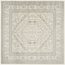 Online Designer Combined Living/Dining Barson Ivory/Silver Area Rug  (8' SQ)