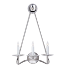 Online Designer Combined Living/Dining Choros Triple Sconce, Polished Nickel