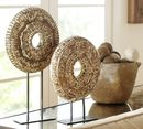 Online Designer Combined Living/Dining WOODEN MEDALLION ON A STAND (SMALL + LARGE)