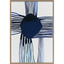 Online Designer Living Room Indigo Dot Wall Art