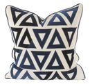 Online Designer Living Room V Rugs & Home Molly Blue/Cream Pillow