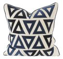 Online Designer Living Room V Rugs & Home Molly Blue/Cream Pillow