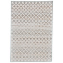 Online Designer Bedroom Primeaux Cream/Silver Area Rug by Lark Manor