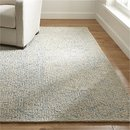Online Designer Combined Living/Dining Trystan Blue Wool-Blend Rug