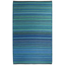 Online Designer Combined Living/Dining Aldo Blue Indoor-Outdoor Rug