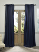 Online Designer Living Room Navy Blue Pole Pocket Blackout Curtain