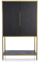 Online Designer Living Room Oxford Black Bar Cabinet