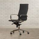 Online Designer Business/Office Kingston High-Back Leather Office Chair with Arms