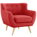 Online Designer Combined Living/Dining Mid-Century Modern Tufted Fabric Club Chair
