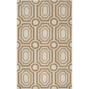 Online Designer Combined Living/Dining Hudson Park Old Gold & Winter White Area Rug