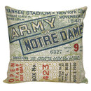 Online Designer Home/Small Office Football Pillow Cover - 100% cotton front, cotton or burlap back Vintage Sports Theme