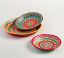 Online Designer Bedroom Painted Paper Mache Bowl - Medium