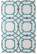 Online Designer Living Room Global Views Arabesque Aqua rug