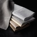 Online Designer Bathroom BELGIAN LINEN METALLIC GUEST TOWELS
