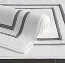 Online Designer Bathroom Parallel Border Turkish Cotton Bath Mat