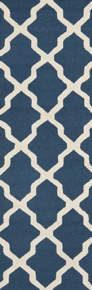 Online Designer Kitchen Cambridge Lattice Navy Blue/Ivory Area Rug by Safavieh